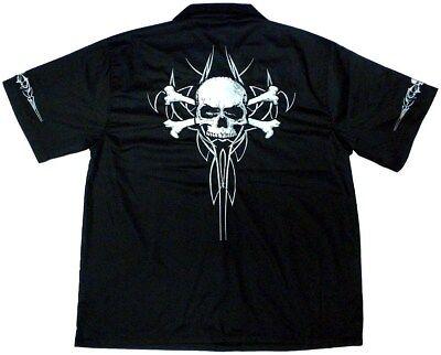 Skull & Crossbones Work Shirt, Dragonfly, L