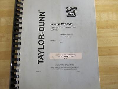 Taylor Dunn Mr-380-25 Mr38025 Manual
