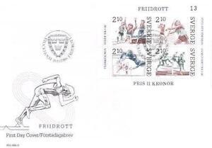 Sweden 1986 Mi BL 14 FDC Sport Athletics - <span itemprop=availableAtOrFrom> Dabrowa, Polska</span> - Sweden 1986 Mi BL 14 FDC Sport Athletics -  Dabrowa, Polska