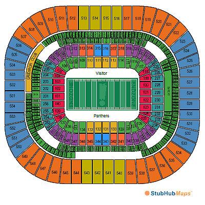1-TIX-Carolina-Panthers-vs-Dallas-Cowboys-Tickets-10-21-12-Charlotte-LOWER-LEVEL