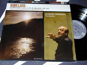 SIBELIUS-Symph-2-Stereo-Banner-LP-ORMANDY-Columbia-360d
