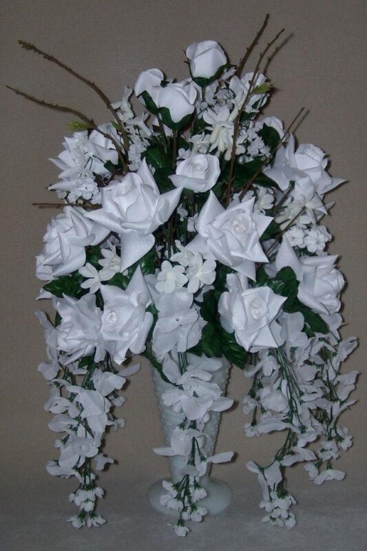 ... Amp Wisteria Wedding Silk Flower Floral Arrangement Centerpiece | eBay