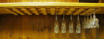 36 wine glass stemware wood holder rack ...