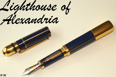 Pelikan FP LIGHTHOUSE of  ALEXANDRIA, Limited Edition LE 18ct Gold Nib Size M