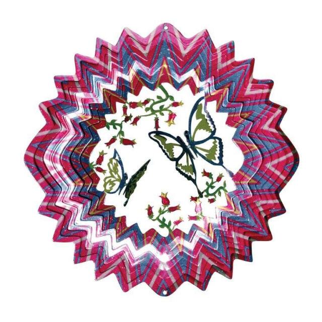 """10 """" Steel 3D Garden Wind Spinner - Butterfly"""