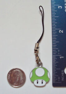 New Mario 1 UP Mushroom Cell phone PDA Charm Dangle