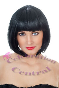 SNOW-WHITE-BLACK-SHORT-BOB-WIG-FANCY-DRESS