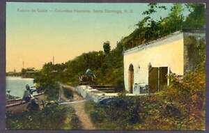 Dominican-Republic-Postcard-Santo-Domingo-Colombus-Fou-L-K