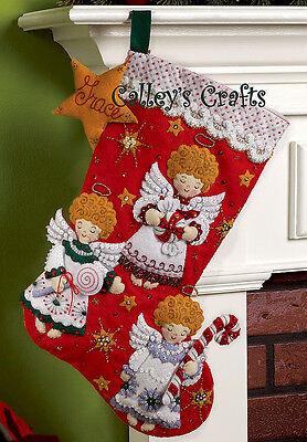 Bucilla Candy Angels 18 Felt Christmas Stocking Kit 86259 - For 2011