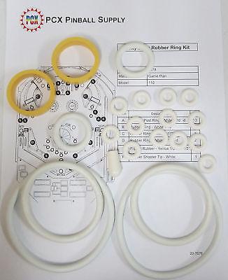 1978 Game Plan Black Velvet Pinball Machine Rubber Ring Kit