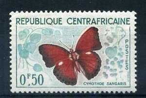 CENTRAFRICAINE-1960-timbre-n-4-papillon-neuf