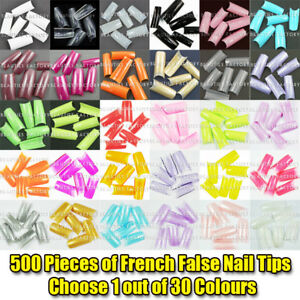 500-x-French-False-Nail-Tips-Choose-1-out-of-30-Colours