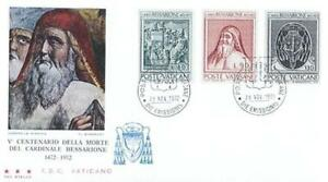 Vatican 1972 Mi FDC 610-12 Cardinal Bessarione - Dabrowa, Polska - Vatican 1972 Mi FDC 610-12 Cardinal Bessarione - Dabrowa, Polska