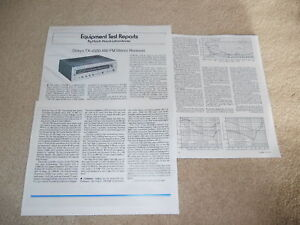 Onkyo TX-4500 Receiver Review, 3 pg, 1976, Full Test