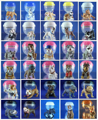 Mini Pit Bull Dog Figure Decorations Cup Cake Toppers Favors - You Pick One