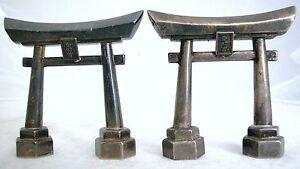 Pair-of-Vintage-Japanese-Torii-Gate-Sterling-970-Salt-Pepper-Shakers-2-8