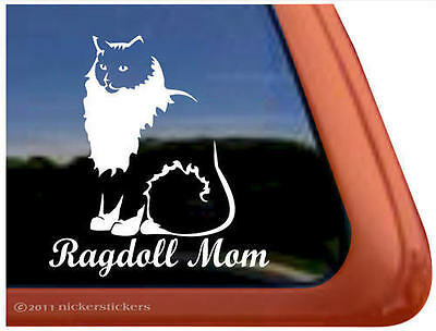 RAGDOLL MOM ~  Ragdoll Cat Kitty Kitten Window Decal Sticker