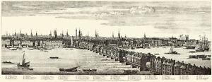 London Panorama 1749 - Sheet 5 of 5 - Old Street Church to London Bridge