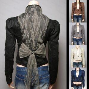 Free-S-H-Lace-Faux-Suede-Lined-Boho-Blazer-Jacket-SMLXL
