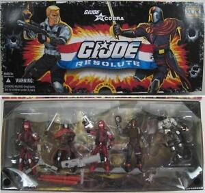 2009 GI JOE 25th RESOLUTE 5 PACK SET COBRA VS GI JOE Cobra Trooper B.A.T. Duke