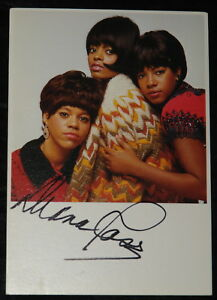 DIANA-ROSS-AUTHENTIC-NICELY-HAND-SIGNED-SUPREMES-POSTCARD-MOTOWN-SOUL