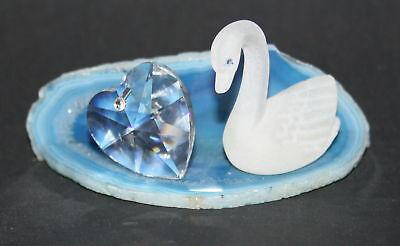 Glas - Mayflower - Kristallfigur - Schwan - NEUWARE