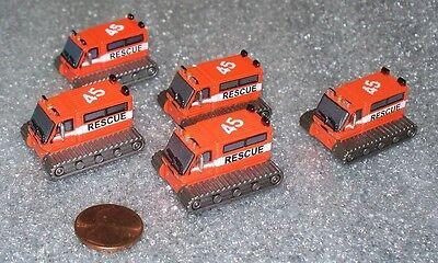 Lot Of 5 Micro Machines Snowcat Miniature