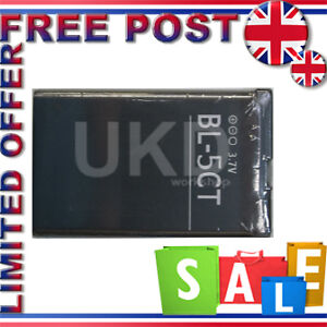 HIGH CAPACITY BATTERY BL-5CT FOR NOKIA C5-00 C6-01 6303