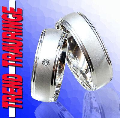 2 Trend Trauringe Verlobungsringe Silber & Gravur GRATIS * T29-1