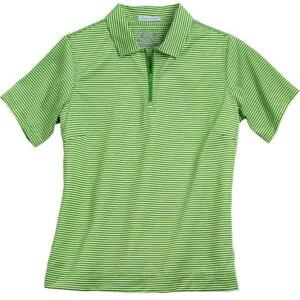 Womens-Performance-Golf-Striped-Polo-Shirt-Spring-Collection-Green-Orange-Blue