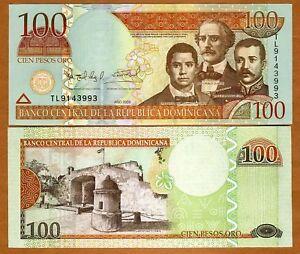 Dominican-Republic-100-Pesos-Oro-2009-P-177b-UNC