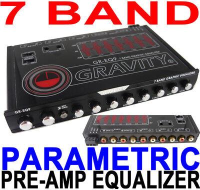7 Band Car Equalizer Eq/7 Volt Pre-amp Gr-eq9 Gravity