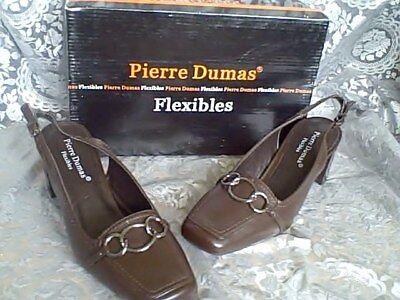 Pierre Dumas Classy 2.5 Heel Flexible Shoes Brwn 7.5 M