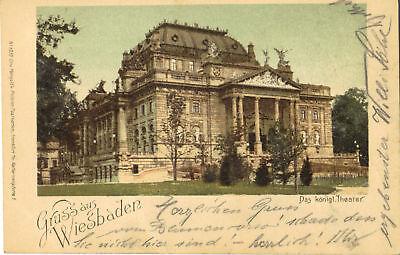 Wiesbaden - Königliches Theater, Ak 1900