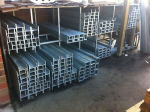 Galvanised-H-Channel-Steel-Posts-Treated-Pine-Sleepers-Retaining-Wall-Garden-DIY