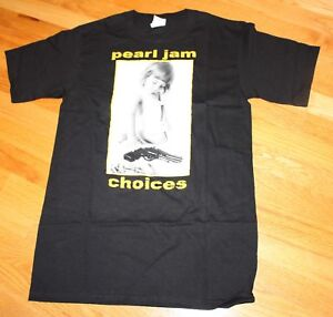 PEARL-JAM-Black-Shirt-CHOICES-JEREMY-ten-era-many-sizes