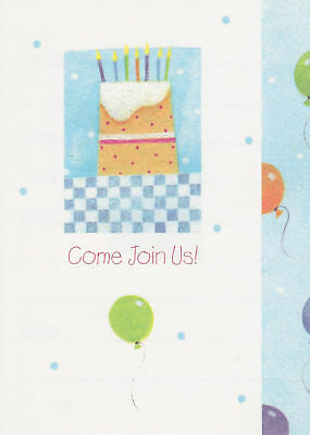 25 Birthday Cake Party Invitations Cards Notes Casual