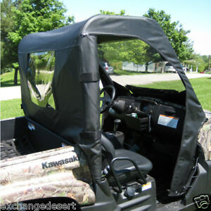 FULL-CAB-ENCLOSURE-Vinyl-Windshield-Enclosure-KAWASAKI-TERYX-UTV-3-Colors
