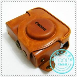 LEATHER CASE BAG FOR CANON POWERSHOT G7 G9 G10 G11 G12 BROWN