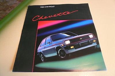 1985 Chevrolet Chevette Sales Brochure Vintage