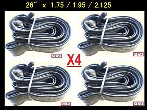 26-Bicycle-Bike-Cycle-26x1-75-2-125-Inner-Tube-New-x4-Free-Shipping