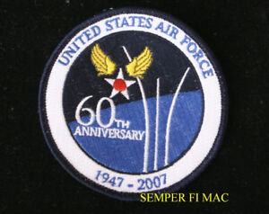 USAF-60TH-ANNIVERSARY-1947-2007-AIR-FORCE-PATCH-WOW