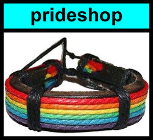 Leather-With-Rainbow-Cotton-Bracelet-Gay-Pride-974