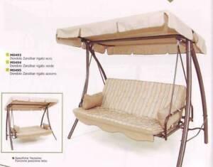 Dondolo da giardino reclinabile a letto matrimoniale ebay for Letto giardino