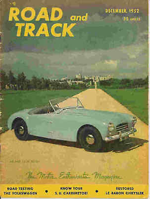 Road   Track 1952 Dec Chrysler Ghia Fiat Cisitilia Race