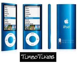 Apple-iPod-Nano-8GB-GREAT-CONDITION-5th-Gen-Blue-Video-Camera-FM-Radio