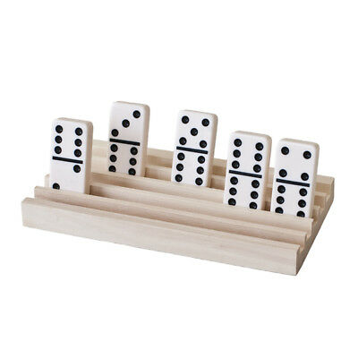 4 Wooden Domino Tile Holder Trays