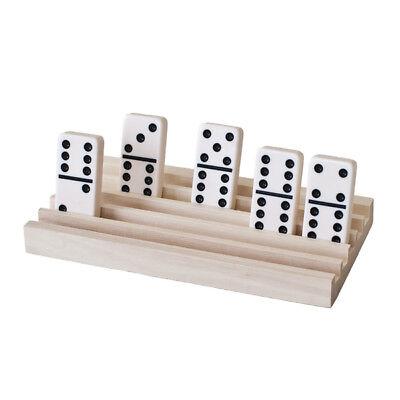 Wooden Domino Trays - 4 Tile Holders