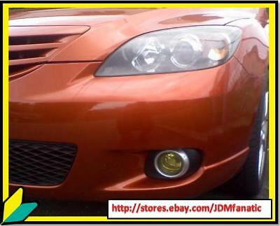 04-08 Mazda 3 Speed Fog Light Jdm Yellow Overlays Tint