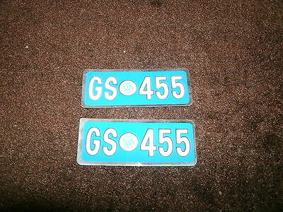 1973 1974 Buick Gs455 Gs 455 Valve Cover Decals Pr Smal